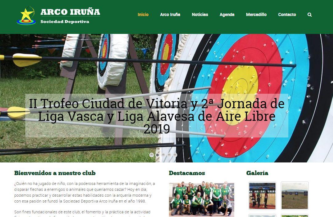 Arco Iruña web gestionada por net948 en Pamplona